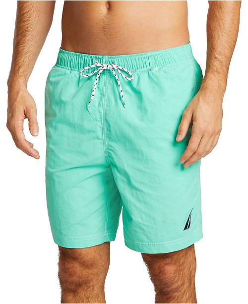 "Nautica Men's Quick Dry Nylon  8"" Swim Trunks"