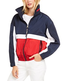 Tommy Hilfiger Logo-Back Windbreaker, Created for Macy's