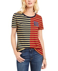 Tommy Hilfiger Striped Patch-Pocket T-Shirt