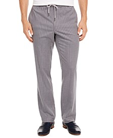 Men's Pinstripe Drawstring Pants, Created for Macy's