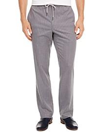 Men's Pinstripe Drawstring Pants, Created for Macy's