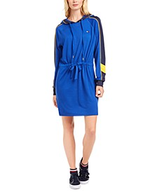 Hooded Drawstring-Waist Dress