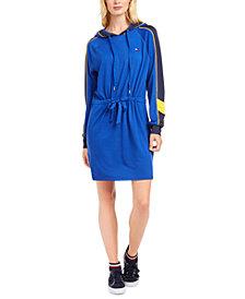 Tommy Hilfiger Sport Hooded Drawstring-Waist Dress