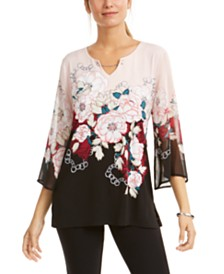 JM Collection Flare-Sleeve Tunic, Created for Macy's