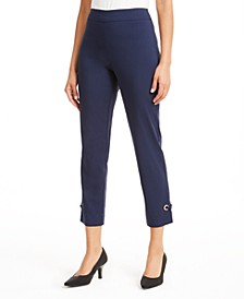 Grommet-Hem Ankle Pants, Created for Macy's