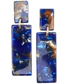 Gold-Tone & Acetate Block Drop Earrings