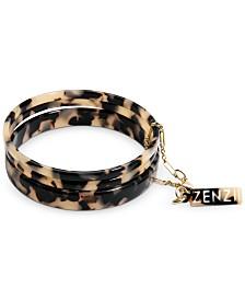 Zenzii Gold-Tone/Acetate 3-Pc. Set Bangle Bracelets