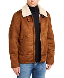 Men's Faux Short Shearling Jacket, Created For Macy's
