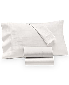 Charter Club Damask Windowpane Supima Cotton 550-Thread Count 4-Pc. California King Sheet Set, Created for Macy's