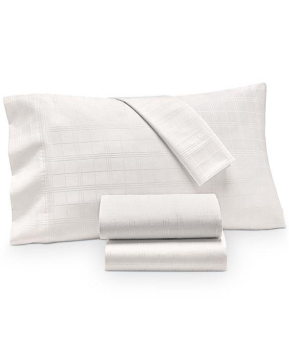 Charter Club Windowpane Supima Cotton 550-Thread Count 4-Pc. California King Sheet Set, Created for Macy's