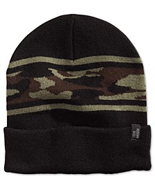 Men's High-Profile Camo-Stripe Beanie