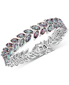 Mystic Quartz Marquise Link Bracelet (20 ct. t.w.) in Sterling Silver