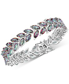 Mystic Quartz Marquise Link Bracelet (20 ct. t.w.) in Sterling Silver