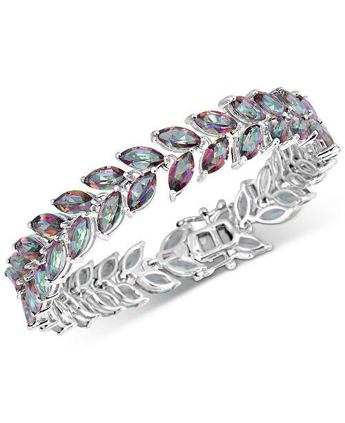 Macy's Mystic Quartz Marquise Link Bracelet (20 ct. t.w.) in Sterling Silver