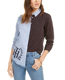 Tommy Hilfiger Cotton Split Shirt, Created for Macy's