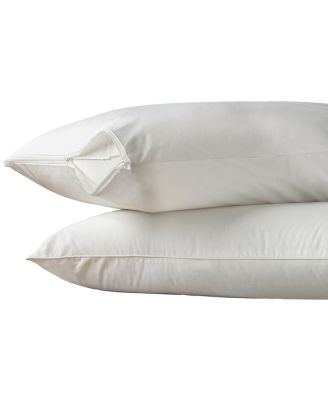 Hot Water Washable Zippered Standard/Queen Pillow Protector 2 Pack