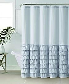 """Melanie Ruffle 72"""" x 72"""" Shower Curtain"""