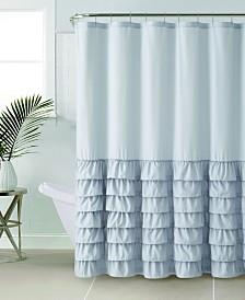 "VCNY Home Melanie Ruffle 72"" x 72"" Shower Curtain"