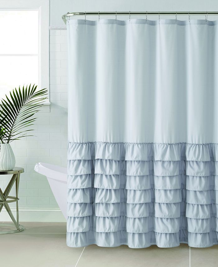 "VCNY Home - Melanie Ruffle 72"" x 72"" Shower Curtain"