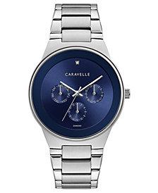 Caravelle Designed By Bulova Men's Diamond-Accent Stainless Steel Bracelet Watch 40mm