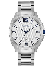 Caravelle Designed By Bulova Men's Stainless Steel Bracelet Watch 41mm