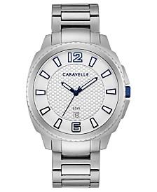 Caravelle Designed By Bulova Men's Stainless Steel Bracelet Watch 41mm
