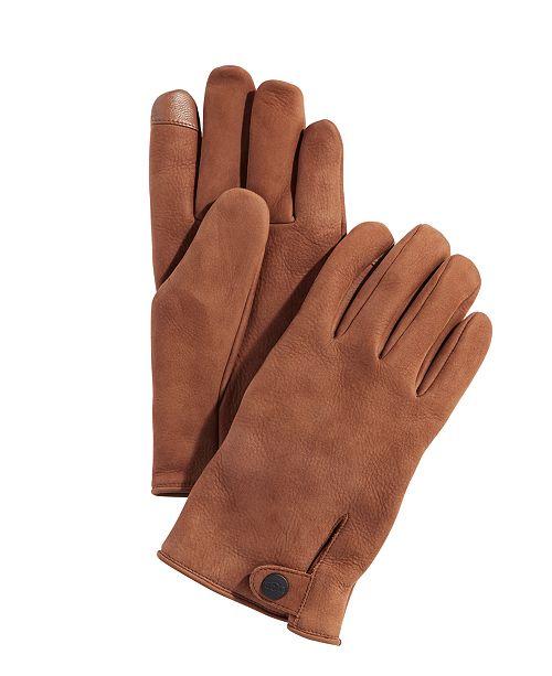 UGG® Men's Leather Tech Gloves