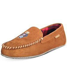 Men's Polo Bear Faux-Suede Slippers