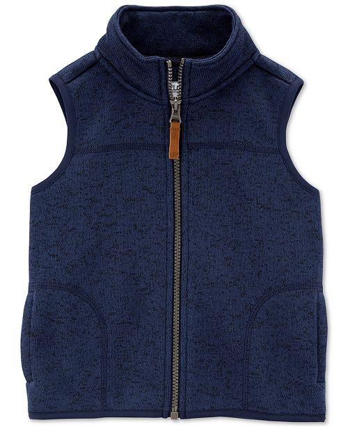 Carter's Toddler Boys Fleece Zip-Up Vest
