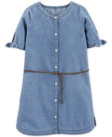 Little & Big Girls Denim Shirtdress