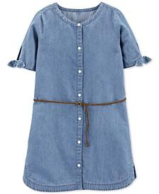 Little & Big Girls Denim Shirtdress