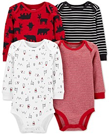 Baby Boys 4-Pk. Printed Cotton Bodysuits
