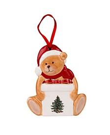 Christmas Tree Teddy Bear Figural Ornament