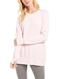 Overlap-Back Burnout Sweatshirt, Created for Macy's
