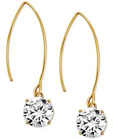 Cubic Zirconia Wire Drop Earrings