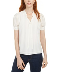 Maison Jules Ruffled Tie-Front Top, Created for Macy's