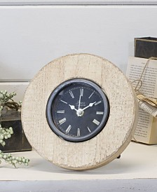 VIP Home & Garden Antique and Round Wood Table Clock