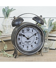 VIP Home & Garden Round Metal Table Clock