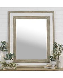 "VIP Home & Garden Rectangular 36"" Wood Mirror"