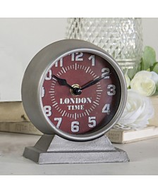 "VIP Home & Garden Metal ""London"" Table Clock"