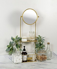 Gold Metal Mirror with Shelves