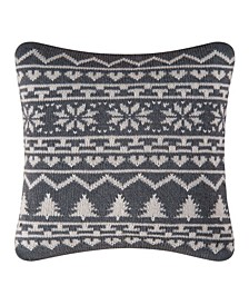 Peaceful Night Knit Pillow