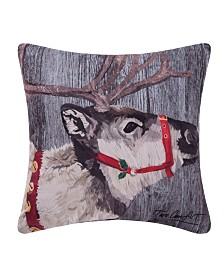 C&F Home Reindeer Indoor/Outdoor Pillow