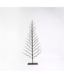 Everlasting Glow 5-Foot High Electric 2-D Tree with Warm White LED Lights and Outdoor Adapter, Brown