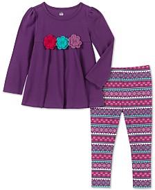 Kids Headquarters Baby Girls 2-Pc. Crochet Trim Tunic & Printed Leggings Set