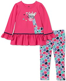 Kids Headquarters Baby Girls 2-Pc. Long Sleeve Cat Tunic & Leggings Set