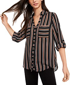 Juniors' Striped Shirt
