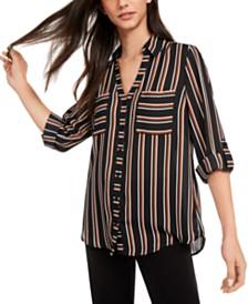 BCX Juniors' Striped Shirt