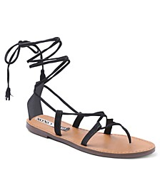 Surf Lace Up Flat Sandals