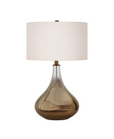 Mirabella Table Lamp In Ombre Brass Colored Glass